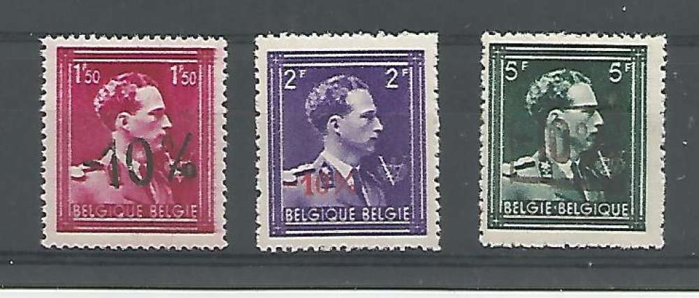 Belgique - 1946 - Léopold III Col Ouvert V Couronne -10% - Tp n° 724N / P - Neuf **