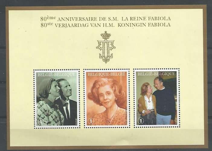 Belgique - 2008 - 80 anniv Reine Fabiola - Bloc 156 - Neuf **
