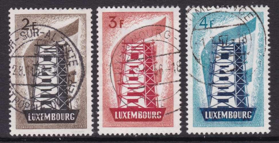 SERIE OBLITEREE DU LUXEMBOURG - EUROPA 1956 N° Y&T 514 A 516