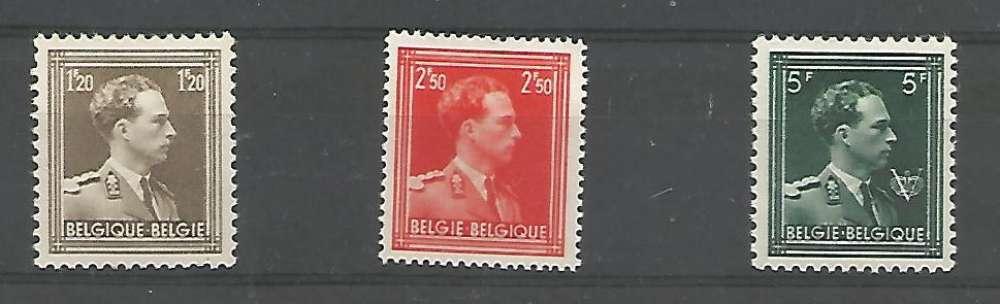 Belgique - 1956 - Léopold III - Tp n° 1005 / 7 - Neuf **