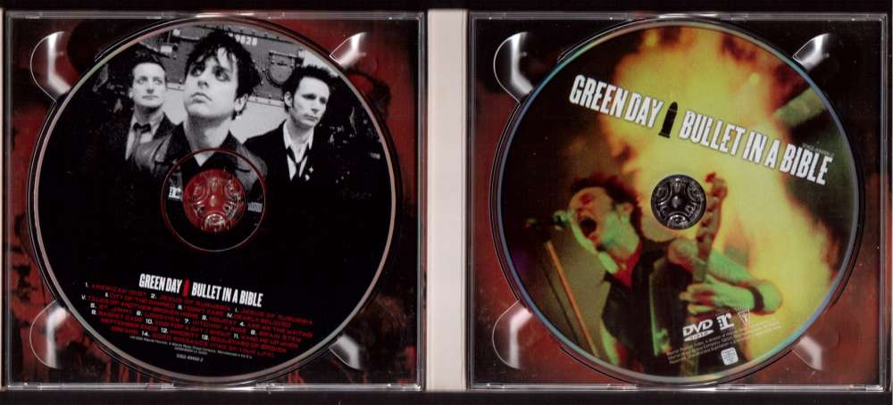 2005 EU CD + DVD Greenday Bullet in a bible Reprise Records Warner Reprise Video 49466-2