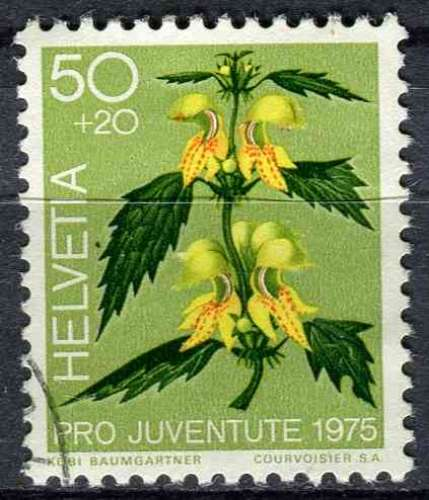 SUISSE 1975 OBLITERE N° 997 fleurs