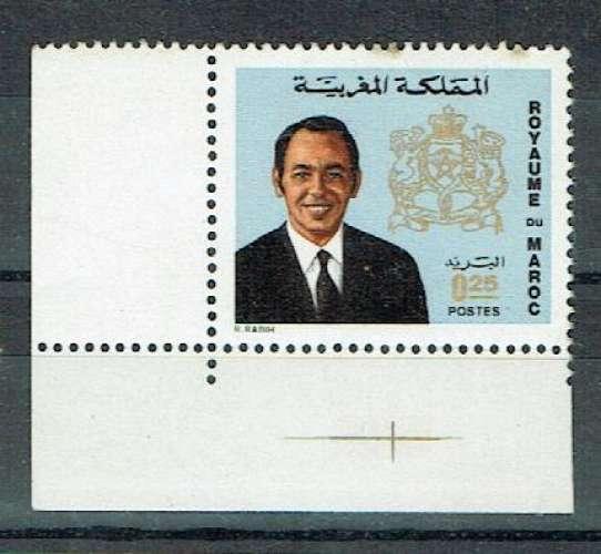 MAROC 1973 - YT 661 MNH BORD DE FEUILLE.