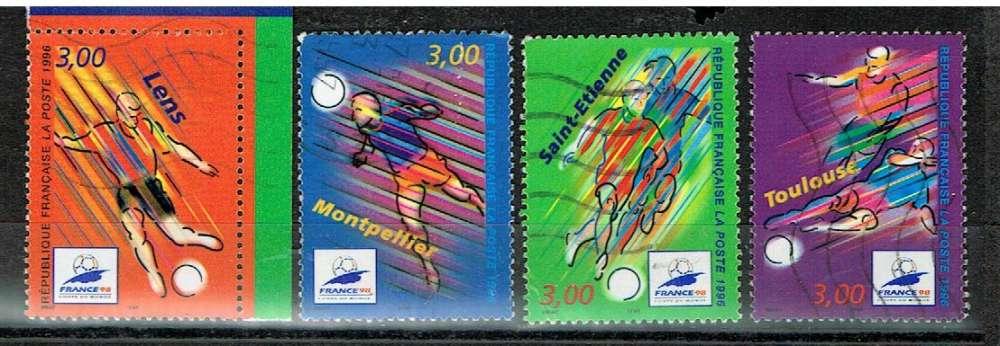 FRANCE 1996 - YT 3010 3011 3012 3013 OBLITÉRÉS.
