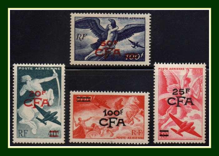 Réunion CFA N° PA 45 à 48 ** MNH (cote 90 €) série complète TB