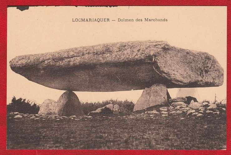 CPA LOCMARIAQUER - DOLMEN DES MARCHANDS