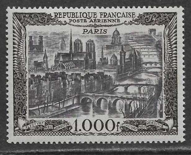 FRANCE 1950 Y&T PA 29 Neuf */** - Poste aérienne , Vue de Paris