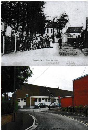 Téteghem  école des filles  (avant après, près de Dunkerque