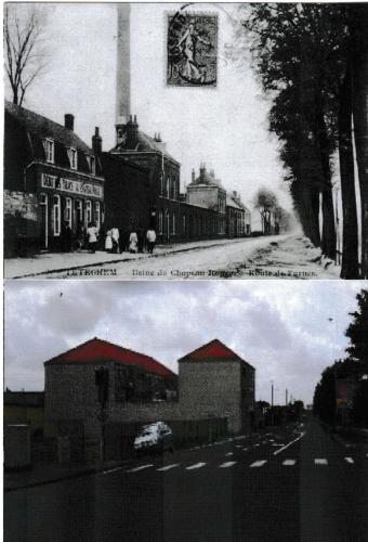 Téteghem  usine du Chapeau Rouge  (avant après, près de Dunkerque
