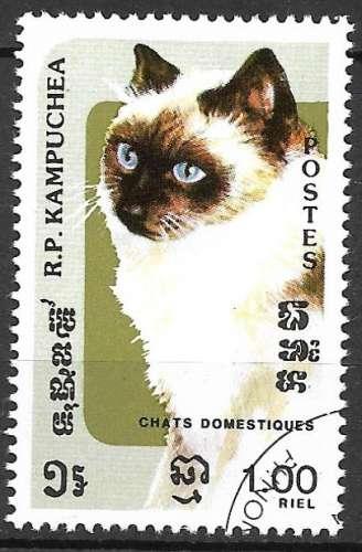 Kampuchea 1985 Y&T 549 oblitéré - Chats domestiques