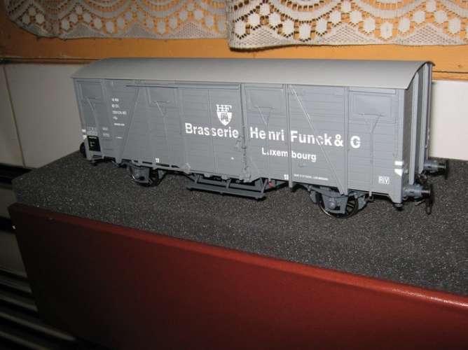 AMJL - Wagon couvert brasserie Funck - Luxembourg - Echelle 1/43