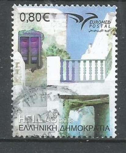 Grèce 2018 - YT n° 2913 - Maison des Cyclades  - cote 1,40