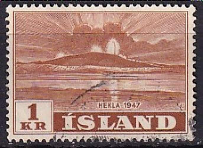 islande ... n° 213  obliteré ... 1948