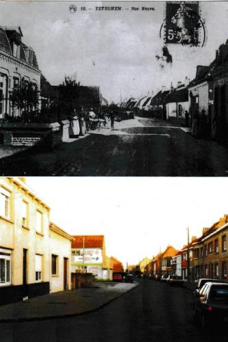 Téteghem  rue Neuve  (avant après, près de Dunkerque