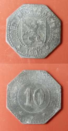 ALLEMAGNE - Guerre - 1917 - 10 Kleingeld Erzatz Marke - Neustadt