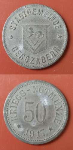 ALLEMAGNE - Guerre - 1917 - 50 Kriegs Notmunze - Bergzabern