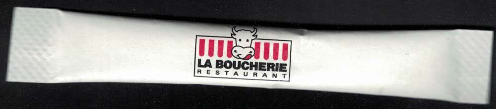 Sachet Sucre Sugar Bûchette La Boucherie Restaurant