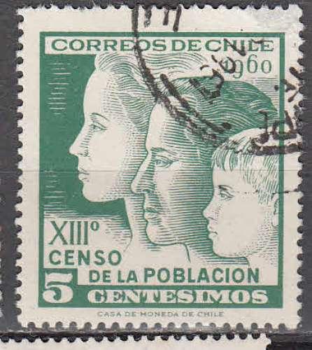 Chili 1960  Y&T  285  oblitéré