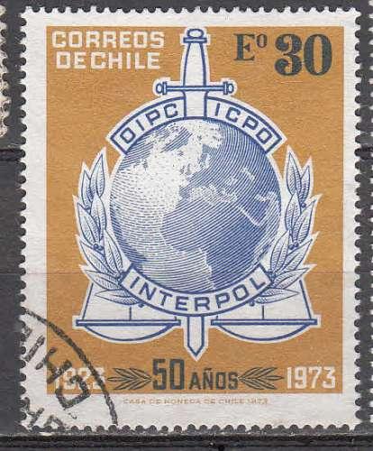 Chili 1973  Y&T  402  oblitéré