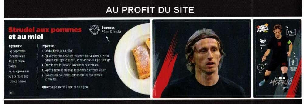 Au profit du site autocollant Carrefour Mange comme un champion L Modric  frais 0,06€ seulement