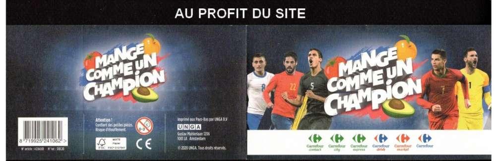 Au profit du site autocollant Carrefour Mange comme un champion B Pavard  frais 0,06€ seulement