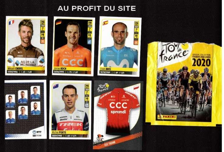 Profit du site 6 autocollants Panini Tour de France 2020 n° 25 - 108 - 236 - 246 - 353 - CCC T6