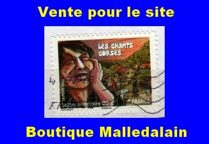 FRANCE - Oblitéré sur fragment - AA 589 Les chants corses - TCA 285