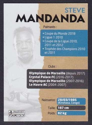 CARTE PANINI INTERMARCHE - AU PLUS PRES DES BLEUS N°3 : STEVE MANDANDA
