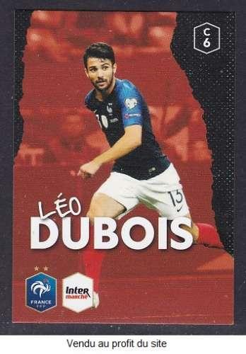 CARTE PANINI INTERMARCHE - AU PLUS PRES DES BLEUS N°6 : LEO DUBOIS