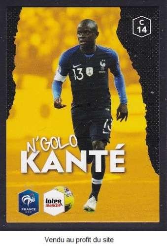 CARTE PANINI INTERMARCHE - AU PLUS PRES DES BLEUS N°14 : N'GOLO KANTE