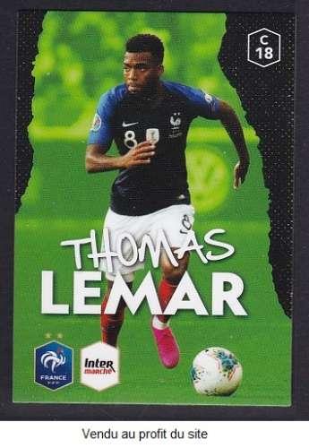 CARTE PANINI INTERMARCHE - AU PLUS PRES DES BLEUS N°18 : THOMAS LEMAR
