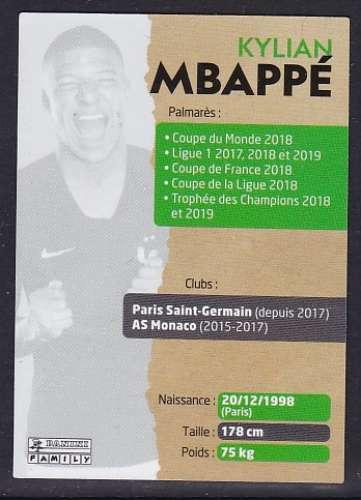 CARTE PANINI INTERMARCHE - AU PLUS PRES DES BLEUS N°21 : KYLIAN MBAPPE