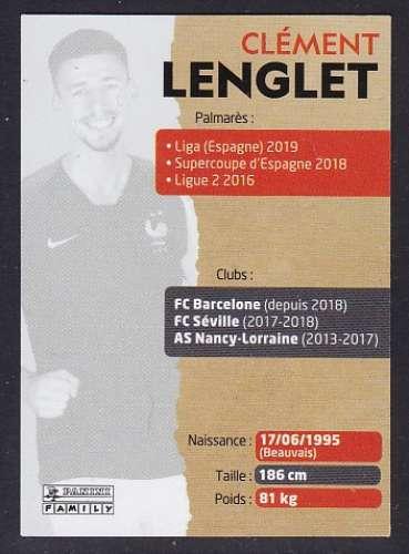 CARTE PANINI INTERMARCHE - AU PLUS PRES DES BLEUS N°8 : CLEMENT LENGLET