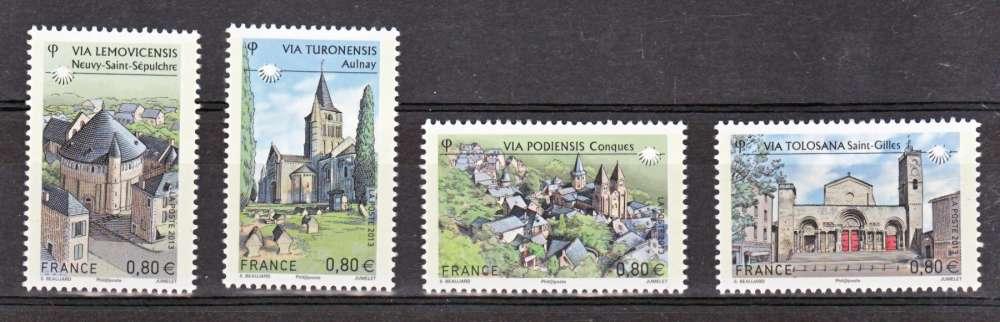 France 4725 4728 du F 2013 chemins de compostelle neuf **TB MNH sin charnela prix de la poste 3.2
