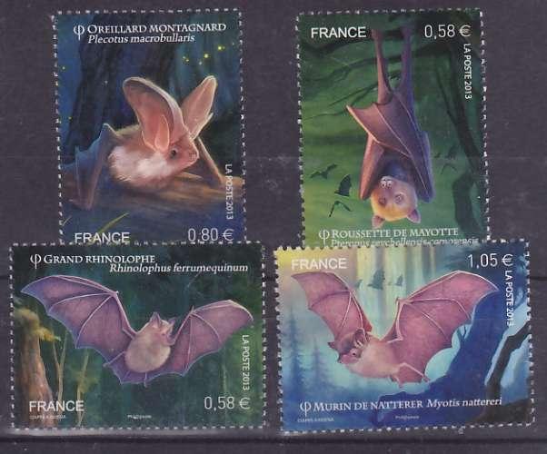 France 4739 4742 du F 2013 chauves souris neuf **TB MNH sin charnela prix de la poste 3.01