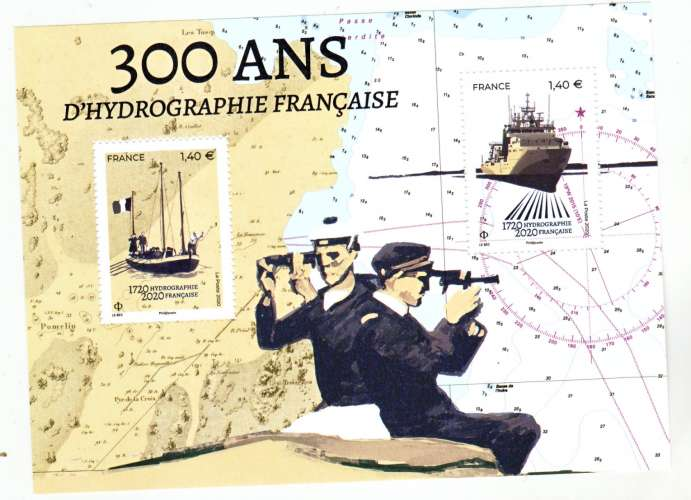 France 5398/5399 hydrographie 2020 feuillet neuf TB ** MNH sin charnela faciale 2.8