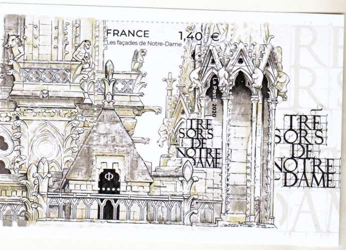 France nouveauté notre dame 2020 feuillet neuf TB ** MNH sin charnela faciale 1.4