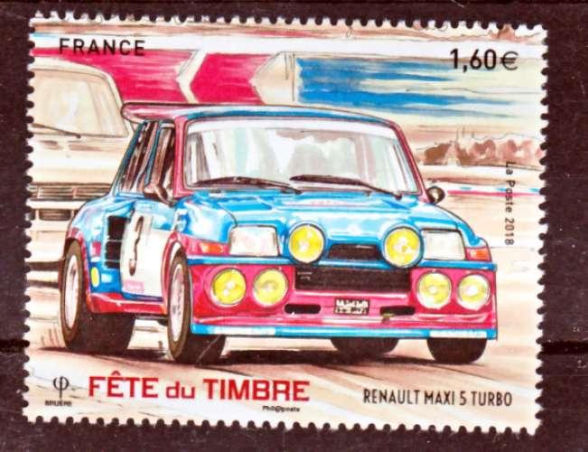 France 5205 fete du timbre renault turbo du bf  neuf **TB MNH sin charnela prix de la poste 1.6