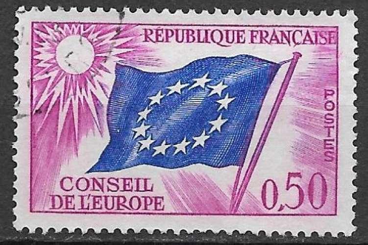 France Service 1963-71 Y&T 32 oblitéré - Drapeau du Conseil