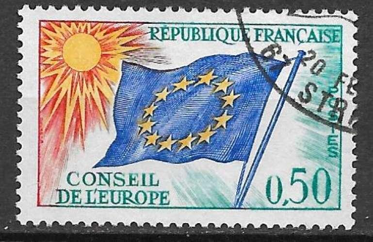 France Service 1963-71 Y&T 33 oblitéré - Drapeau du Conseil