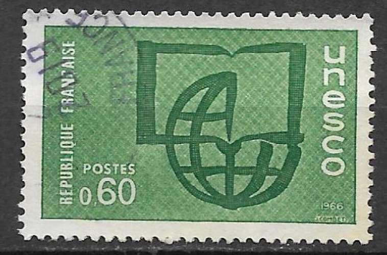 France Service 1966 Y&T 38 oblitéré - Unesco