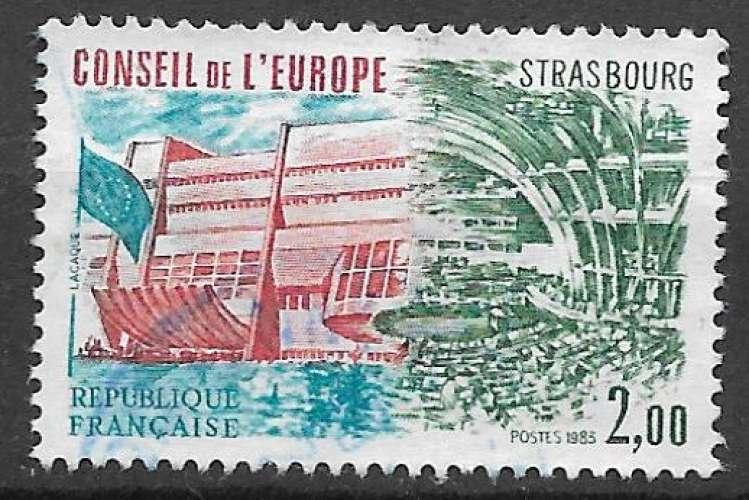 France Service 1983 Y&T 77 oblitéré - Conseil de l'Europe