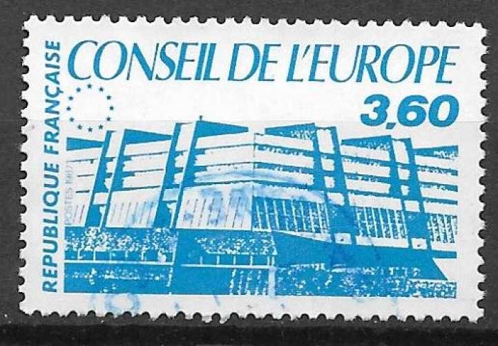 France Service 1987 Y&T 97 oblitéré - Conseil de l'Europe