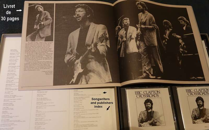 1988 Germany 4 X CD  Boxset compilation Remastered Eric Clapton Crossroads Polydor 835-261-2