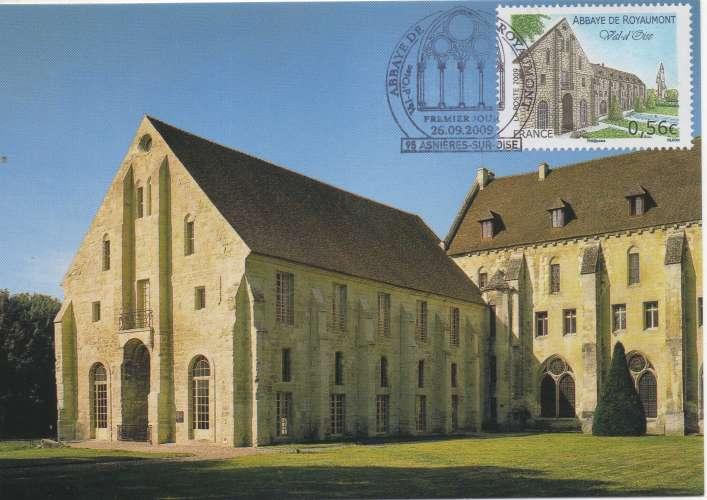 france 2010 - Carte maximum : Abbaye de Royaumont