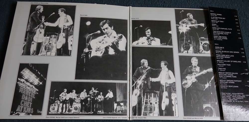 1978 France Vinyl LP Album Gatefold  Marcel Dadi and friends  Olympia 77 Sonopresse CD1020