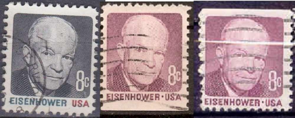 Etats Unis 1971 YT 921-922-922A Obl Eisenhower