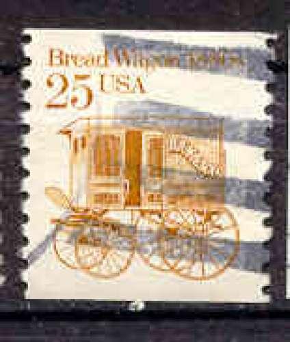Etats Unis 1986 YT 1692 Obl Chariot de boulanger