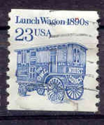 Etats Unis 1991 YT 1935 Obl Chariot restaurant