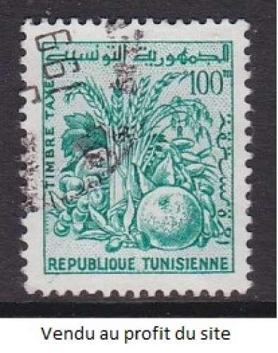 TIMBRE OBLITERE DE TUNISIE - PRODUITS AGRICOLES N° Y&T TAXE 83